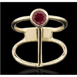 14KT Yellow Gold 0.55 ctw Ruby Ring