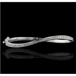 14KT White Gold 1.05 ctw Diamond Bangle
