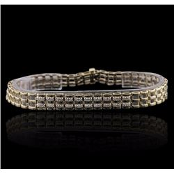 10KT Yellow Gold 0.20 ctw Diamond Bracelet