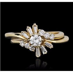 14KT Yellow Gold 0.69 ctw Diamond Wedding Set