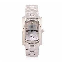 Baume Mercier Stainless Steel Diamond Mercler Hampton Watch