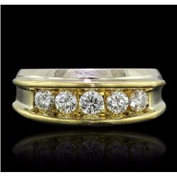 18KT Yellow Gold 1.10 ctw Diamond Ring
