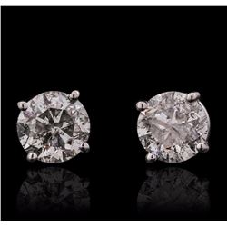 14KT White Gold 1.35 ctw Diamond Solitaire Earrings