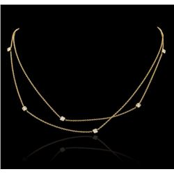14KT Yellow Gold 0.30 ctw Diamond Necklace