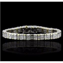 18KT White and Yellow Gold 8.15 ctw Diamond Bracelet