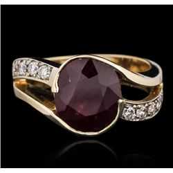 14KT Yellow Gold 3.13 ctw Ruby and Diamond Ring