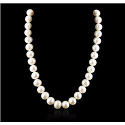 14KT White Gold Pearl Necklace