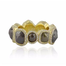 18KT Yellow Gold 20.00 ctw Multi-Colored Diamond Ring
