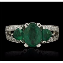 14KT White Gold 2.42 ctw Emerald Ring