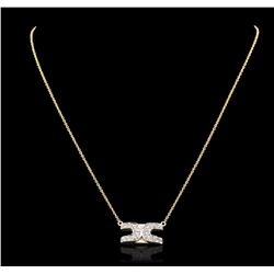 14KT Yellow Gold 0.50 ctw Diamond Necklace