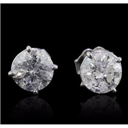 14KT White Gold 1.93 ctw Diamond Stud Earrings