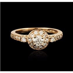 14KT Rose Gold 0.69 ctw Diamond Ring