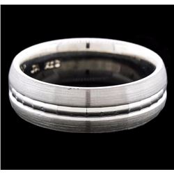 14KT White Gold Band Ring