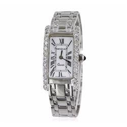 Geneve 14KT White Gold 1.07 ctw Diamond Ladies Watch