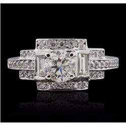 14KT White Gold 1.69 ctw Diamond  Ring