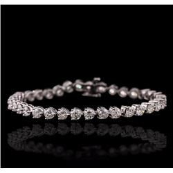 14KT White Gold 8.20 ctw Diamond Tennis Bracelet