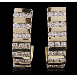 14KT Yellow Gold 1.00 ctw Diamond Earrings