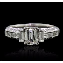 18KT White Gold EGL Certified 1.93 ctw Diamond Ring