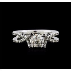 0.82 ctw Diamond Ring - 14KT White Gold