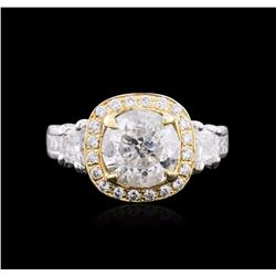 14KT Two-Tone Gold 4.28 ctw Diamond Ring
