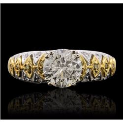 18KT Two-Tone Gold 2.05 ctw Diamond Ring