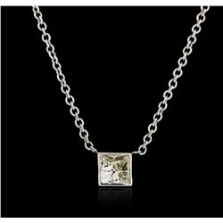 14KT White Gold 0.41 ctw Diamond Necklace