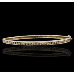 14KT Yellow Gold 1.18 ctw Diamond Bangle