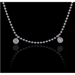 18KT White Gold 0.06 ctw Diamond Necklace