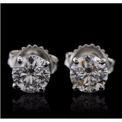 14KT White Gold 1.47 ctw Diamond Earrings