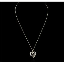 10KT Yellow Gold 0.30 ctw Diamond Heart Pendant With Chain
