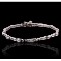 14KT White Gold 0.50 ctw Diamond Bracelet