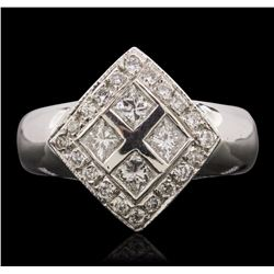 14KT White Gold 0.76 ctw Diamond Ring