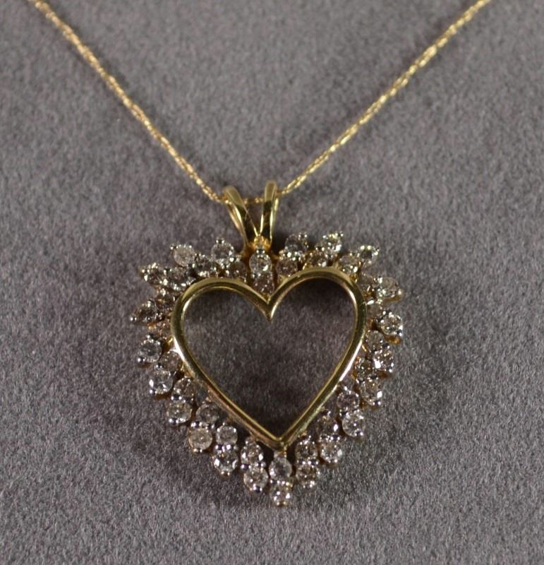 14 k yellow gold diamond heart necklace with 20 14 k yellow gold 14 k yellow gold diamond heart necklace with 20 14 k yellow gold chain 44 mozeypictures Gallery