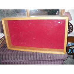 Wooden Display Case Glass Lid