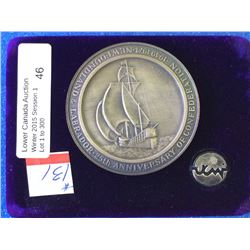 Newfoundland & Labrador 25th Anniversary in Confederation .999 Silver Medalserial number 00488 in ca