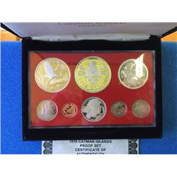 Cayman 8-coin set 1978 proof set