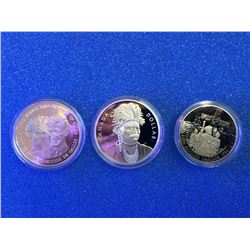 Canada 1984 Jacques Cartier proof coin, 1983 silver Prince of Wale and 2007 proof silver dollar