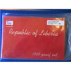Liberia Proof set from 1969.