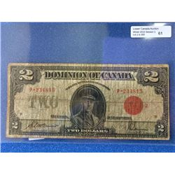 Dominion of Canada; $2.00 note 1923 DC-26g P-234815 VG.