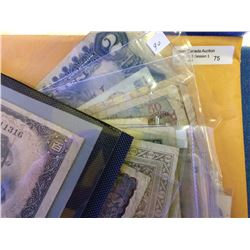 World; Assorted lot of 25 notes from different contries mostly circulated to be viewed.