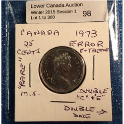 25 cent Canada 1973 with somes errors