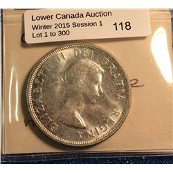 Canada silver dollar 1960, mint state