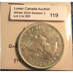 Canada silver dollar 1957, mint state