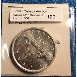 Canada silver dollar 1955, mint state