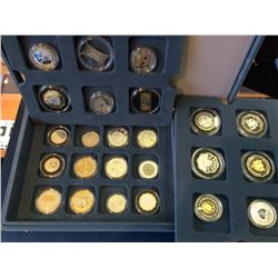 The Millennium Crown 2000 Gold and Silver proof  set, Containing 24 world coins.