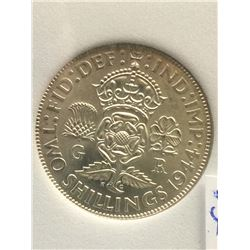 Great Britain 2 Shilling 1944; NNC certified MS-64.