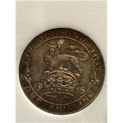 Great Britain 1 Shilling 1916; NNC certified MS-62.