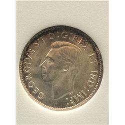 25 cents 1937; NNC certified MS-64.