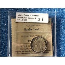 Canada silver 25 cents 1947 Maple Leaf MS-64 ICCS.