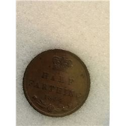 Great Britain 1/2 Farthing 1844; NNC certified MS-63 Brown.